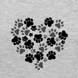 Cat and Dog Paws - Women's Premium Long Sleeve T-Shirt