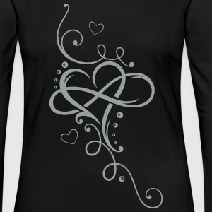 Heart with large infinity loop - Women's Premium Long Sleeve T-Shirt