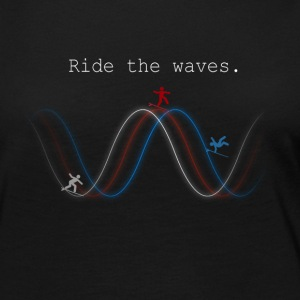 Ride The Waves - Women's Premium Long Sleeve T-Shirt