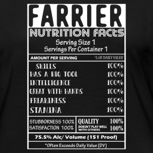 FARRIER NUTRITION FACTS SHIRT - Women's Premium Long Sleeve T-Shirt