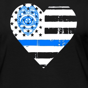 Police Thin Blue Line T shirts - Women's Premium Long Sleeve T-Shirt