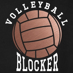 Rose Gold Volleyball Blocker - Women's Premium Long Sleeve T-Shirt