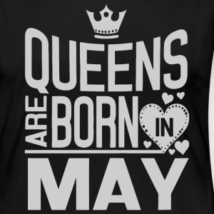Queens are born in May version 2 shirt - Women's Premium Long Sleeve T-Shirt
