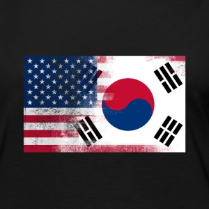 Korean American Half South Korea Half America Flag - Women's Premium Long Sleeve T-Shirt