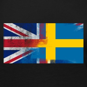 British Swedish Half Sweden Half UK Flag - Women's Premium Long Sleeve T-Shirt