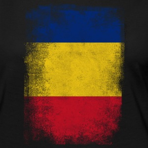 Romania Flag Proud Romanian Vintage Distressed Shi - Women's Premium Long Sleeve T-Shirt