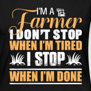 I'm A Farmer Dad T Shirt - Women's Premium Long Sleeve T-Shirt