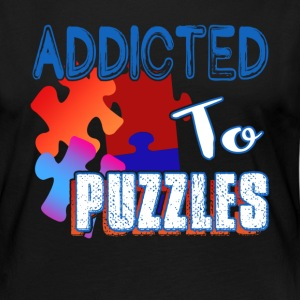ADDICTED TO PUZZLE SHIRT - Women's Premium Long Sleeve T-Shirt