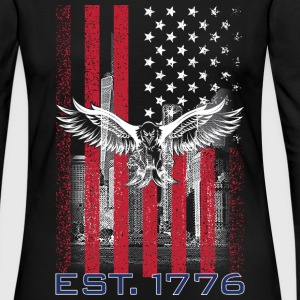 American Flag T Shirts - Women's Premium Long Sleeve T-Shirt