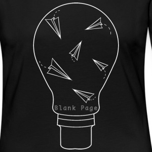Blank Page Lightbulb - Women's Premium Long Sleeve T-Shirt