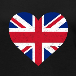 UK Flag Shirt Heart - Brittish Shirt - Women's Premium Long Sleeve T-Shirt