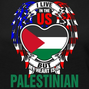 I Live In The Us But My Heart Is In Palestinian - Women's Premium Long Sleeve T-Shirt