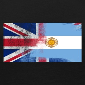 British Argentinan Half Argentina Half UK Flag - Women's Premium Long Sleeve T-Shirt