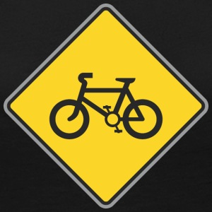 Road_Sign_bicycles_yellow - Women's Premium Long Sleeve T-Shirt