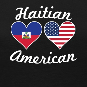 Haitian American Flag Hearts - Women's Premium Long Sleeve T-Shirt