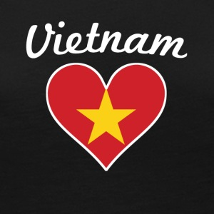 Vietnam Flag Heart - Women's Premium Long Sleeve T-Shirt