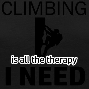 Climbing is my therapy - Women's Premium Long Sleeve T-Shirt