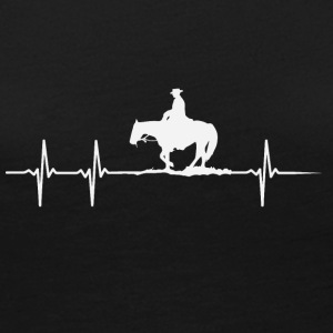 Make a heartbeat design for Horseriding - Women's Premium Long Sleeve T-Shirt