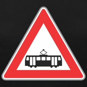 Road_sign_train_red - Women's Premium Long Sleeve T-Shirt