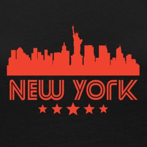 Retro New York City Skyline - Women's Premium Long Sleeve T-Shirt