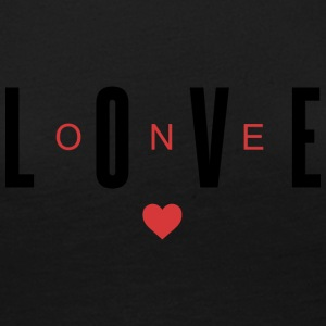 One Love (Black and Red Letters) - Women's Premium Long Sleeve T-Shirt