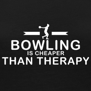 Bowling is cheaper than therapy - Women's Premium Long Sleeve T-Shirt