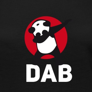 dab panda red DAB panda dabbing football touchdown - Women's Premium Long Sleeve T-Shirt