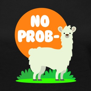 No Probllama - Clever No Problem Llama Design - Women's Premium Long Sleeve T-Shirt