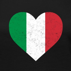 Italy Flag Shirt Heart - Italian Shirt - Women's Premium Long Sleeve T-Shirt