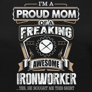 Proud Mom Of A Freaking Awesome Ironworker - Women's Premium Long Sleeve T-Shirt