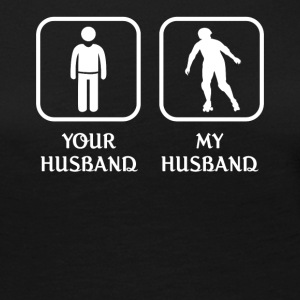 Husband Roller Skating Love- cool shirt,geek hoodi - Women's Premium Long Sleeve T-Shirt