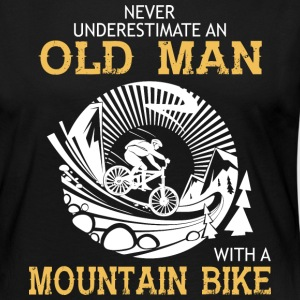 Old Man With A Mountain Bike T Shirt - Women's Premium Long Sleeve T-Shirt
