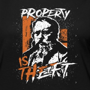 Proudhon - Property Is Theft - Women's Premium Long Sleeve T-Shirt