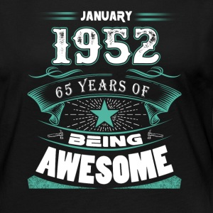 January 1952 - 65 years of being awesome (v.2017) - Women's Premium Long Sleeve T-Shirt