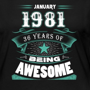 January 1981 - 36 years of being awesome (v.2017) - Women's Premium Long Sleeve T-Shirt