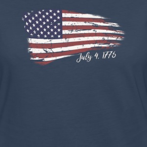Independence Day 4th of July American Flag 1776 - Women's Premium Long Sleeve T-Shirt