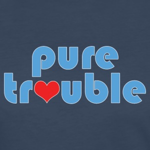 Humorous Pure Trouble and Heart Design - Women's Premium Long Sleeve T-Shirt