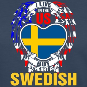 I Live In The Us But My Heart Is In Swedish - Women's Premium Long Sleeve T-Shirt