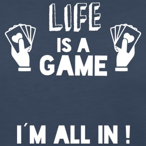 LIFE IS A GAME - IAM ALL IN white - Women's Premium Long Sleeve T-Shirt