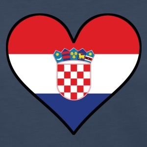 Croatian Flag Heart - Women's Premium Long Sleeve T-Shirt