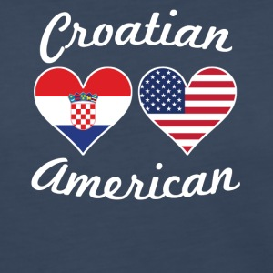 Croatian American Flag Hearts - Women's Premium Long Sleeve T-Shirt