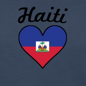 Haiti Flag Heart - Women's Premium Long Sleeve T-Shirt