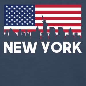 New York City American Flag Skyline - Women's Premium Long Sleeve T-Shirt