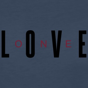 One Love (Burgundy/Black Letters) - Women's Premium Long Sleeve T-Shirt
