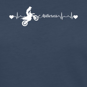 Motocross Heartbeat Shirt - Women's Premium Long Sleeve T-Shirt