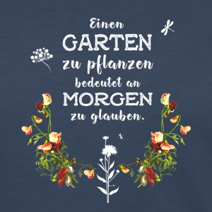 garden Garten german Slogan Love plant flower gree - Women's Premium Long Sleeve T-Shirt