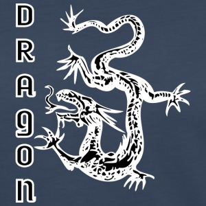 down_looking_dragon_black - Women's Premium Long Sleeve T-Shirt