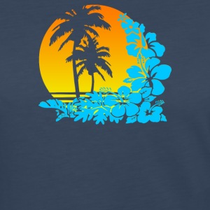 Palm Sunset - Women's Premium Long Sleeve T-Shirt