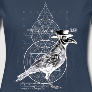 The Plague Raven - dark version - Women's Premium Long Sleeve T-Shirt