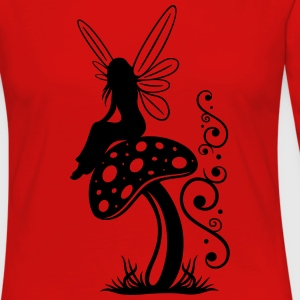 Little fairy on a mushroom. - Women's Premium Long Sleeve T-Shirt